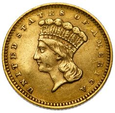 Lot 54: 1862 $1 Gold XF;