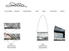 outsiide aluminium  inside nude leather - Zilla #bags #madeinitaly