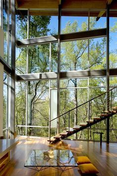 ~ Amazing ~ Interior from Strickland-Ferris Residence. Architects: Frank Harmon Architect PA. Location: Raleigh, NC, USA