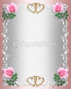 Rosas de cetim rosa convite de casamento — Foto Stock © Irisangel #2185850