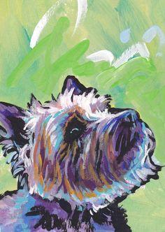 Cairn Terrier modern Dog art print pop dog art by BentNotBroken, $22.99