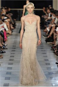 VOGUE ITALIA; Aline Weber beige gown
