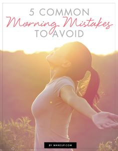 5 Common Morning Mistakes to Avoid: The Late Riser The Lazy Daisy [Guilty! Are you making morning mistakes, too? Health And Beauty Tips, Health Tips, Health And Wellness, Health Fitness, Fitness Tips, Get Healthy, Healthy Habits, Healthy Life, Workout