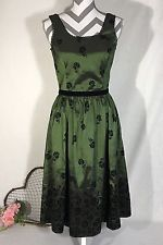 Neca Bella Swan Twilight Saga New Moon Green Taffeta Black Velvet Dress Size Med