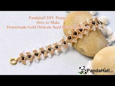 Pandahall DIY Project – How to Make Homemade Gold Delicate Seed Beads Bracelets - YouTube