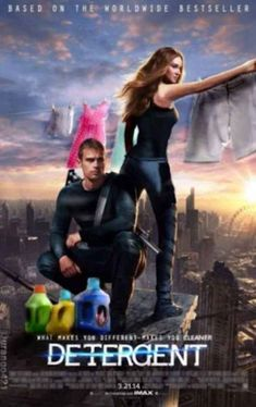 Divergent becomes Detergent in Pop Culture Memes - Memes Best Funny Jokes, Best Funny Videos and Best Funny Memes in the web. The All in One funny jokes, videos and picture packages in the website for the first time. Divergent Film, Divergent Funny, Divergent 2014, Divergent Poster, Divergent Fandom, Insurgent Movie, Insurgent Quotes, Quote Movie, Movie Film