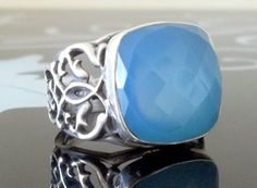 925 Sterling Silver Men's Ring with Totally by lunasilvershop, $119.90