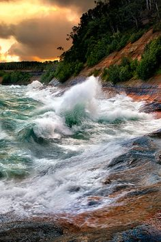 pictured rocks, national lakeshore, lake superior, Michigan