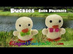 DIY Kawaii Ducky/Chick Sock Plushie/Sock Stuffed Animal/Easter - How to by Elegant Fashion 360 - YouTube