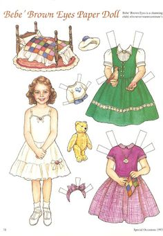 Bebe* Christmas paper dolls The International Paper Doll Society Arielle Gabriel artist #QuanYin5 Twitter, Linked In QuanYin5 *