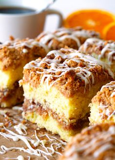 It's sweet, rich, crumbly and best when eaten for every single meal of the day, especially on National Coffee Cake Day. Yes, it's cinnamon roll coffee cake! Sweet Recipes, Cake Recipes, Dessert Recipes, Brunch Recipes, Dessert Ideas, Savoury Cake, Coffee Cake, Coffee Mugs, Cinnamon Rolls