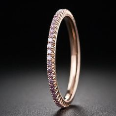 Fancy Pink Diamond Eternity Band - 110-1-4947 - Lang Antiques
