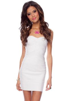 Go Band in Band Dress in White $68 at www.tobi.com