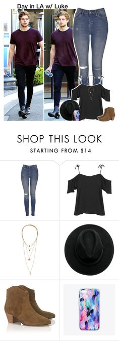 """""""Day in LA w/ Luke -Aileen x"""" by imaginegirlsdsos ❤ liked on Polyvore featuring Topshop, H&M, Étoile Isabel Marant, Nikki Strange, Smashbox, 5sos, lukehemmings, 5secondsofsummer and 5sosoutfits"""