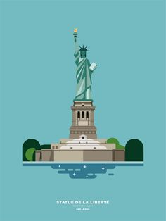 Statue of Liberty by Le Duo - Illustration by Le Duo for Image Republic. New York Illustration, Travel Illustration, Digital Illustration, Liberty Wallpaper, Image Republic, Voyage Usa, Architecture Old, Drawing Architecture, Bike Poster