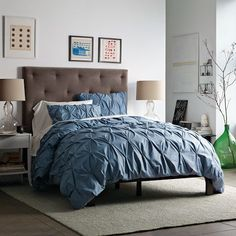 pintuck duvet-west elm