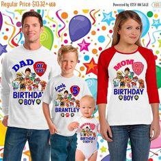 Sale 15% Off Paw Patrol Birthday Shirt - Paw Patrol Shirt -Raglan paw patrol  inspired family birthday theme shirt/paw patrol party shirt/13 by sweetlittletees on Etsy https://www.etsy.com/listing/269734872/sale-15-off-paw-patrol-birthday-shirt