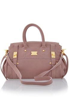 MODALU| BIBI Nougat Leather Grab Bag