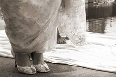 Wedding Dress Lace and Matching Lacey Wedding Shoes http://www.denisemackphotography.com/#!/DMP_Home