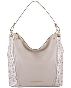 Brahmin Sevi Toasted Macaroon Marais Medium Hobo - Handbags & Accessories - Macy's
