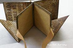 POP UP BOOK TUTORIAL - Bsp. s. auch hier: http://quillcottage.blogspot.de/2010/07/magical-map-fold-out-pop-up-book.html