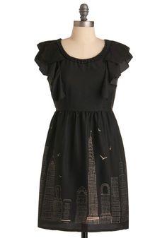 Buildings on a dress