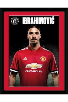 2b52777d294 Manchester United Zlatan Stand 17 18 Collector Print European Cup