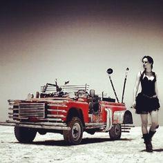 """#TT #ThrowbackThursday - 2007 - LOVE MACHINE [ENG]~ This is the first one of my videos I directed, shot in the desert of Tozeur where """"Star Wars"""" and my previous video """"And I Hate You"""" were filmed as well. I had this """"Mad-Max"""" style Machine-car completely customized to help me in my quest for love... A quest that looks like following a mysterious map and finding some objects related to that love… The first single of my third album, that video was released in 2007...You can choose the…"""