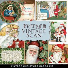 Freebies Tarjetas Vintage Kit