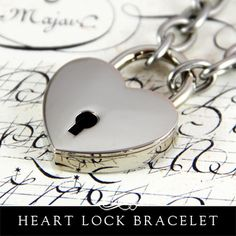 Heart Lock Bracelet by Annie Howes.