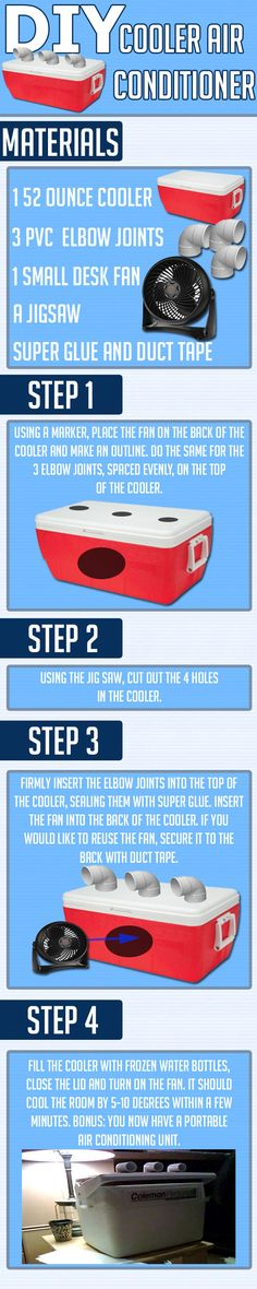 Funny pictures about How to make your own cooler air conditioner. Oh, and cool pics about How to make your own cooler air conditioner. Also, How to make your own cooler air conditioner. Do It Yourself Jewelry, Do It Yourself Home, Cooler Air Conditioner, Just In Case, Just For You, Diy Cooler, Room Cooler, Do It Yourself Furniture, It Goes On