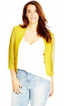 Shop Women's Plus Size Women's Plus Size Cropped Blazer Jacket   City Chic USA