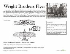 Worksheets: National Treasures: The Wright Brothers' Flyer