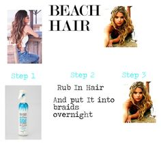 """""""Beach hair"""" by coolpineapple-765 ❤ liked on Polyvore featuring beauty, Not Your Mother's and beachhair"""