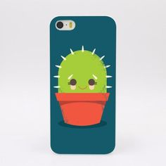Cute little cactus plant case for your iPhone. Protective Hard Case Avaialble for iPhone4 4s 5 5s 5c SE 6 6s Plus