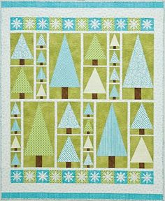 Not wild on the colours as I am a more traditional kind of gal, but this is a lovely Christmas quilt.
