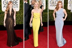 Glitter and Feathers in Golden Globe Fashions - NYTimes.com