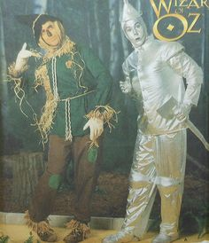 Scarecrow and Tin Man Costume Sewing Pattern $35.00