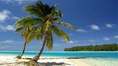 Sea island blue sky