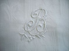 Vintage french monogrammed pillow case by allthatglittersbeads, $35.00