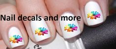 50+ pc of Flowers Nail Decals Art Nail Decal Nail Art Stickers JH 281