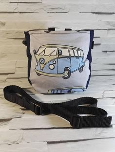 Items similar to Campervan chalk bag, VW Chalk Bag, Volkswagen chalk bag, Rock climbing chalk bag + belt for rock climbing on Etsy Climbing Chalk, Campervan, Volkswagen, Rock, Trending Outfits, Unique Jewelry, Awesome, Handmade Gifts, Bags