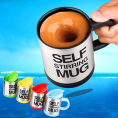 Cheap steel cup holder, Buy Quality cup china directly from China steel bottle Suppliers: hot sale New Stylish 6 colors Stainless Steel Lazy Self Stirring Mug Auto Mixing Tea Milk Coffee Cup Office Gift Eco-Friendly Coffee Mix, Coffee Cups, Tea Cups, Novelty Mugs, Mugs For Men, Cream And Sugar, Dinnerware Sets, Food Diary, Baking Ingredients