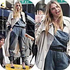 #caradelevingne #moda #cute #styleicon #fashionicon #photoshoot #socialite #style #fashion #instastyle #instafashion #ride #givenchy #gold #car #chanel #blonde #handbag #poppydelevingne #inspiration #jumpsuit #hermesbirkin #celine #celinebag #styleicon #eyebrows #trench #dkny #burberry... - Celebrity Fashion