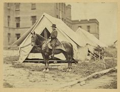 Historic Horse Photography; The American Civil War: Major General Joseph Hooker, Mathew Brady, taken between 1861 and 1865, Library of Congress
