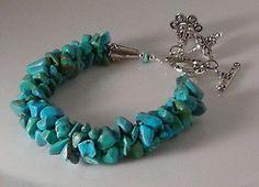 Turquoise Kumihimo Bracelet by TheGingerTabby on Etsy, $40.00