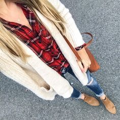 """1,698 Likes, 46 Comments - Blonde Expeditions (@kaitlinkkeegan) on Instagram: """"A little bit of plaid for a busy rainy day! Checking off my to do list in the comfiest top and…"""""""