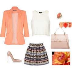 Coral by irialore on Polyvore featuring polyvore fashion style Topshop Quiz Dolce&Gabbana Balenciaga Liz Claiborne maurices