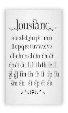 in love with the flourishes/ligatures. Lousiane / neo art nouveau type specimen by JuanJo Rivas del Rio, via Behance