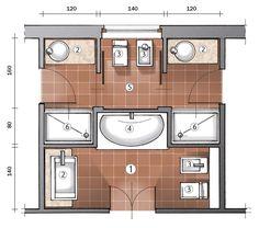 Spesso negli appartamenti di impianto datato, il bagno era uno solo. E con la ristrutturazione occorre ricavarne invece almeno due. Ecco un progetto in cui il locale di servizio di sdoppia, anzi quasi triplica.